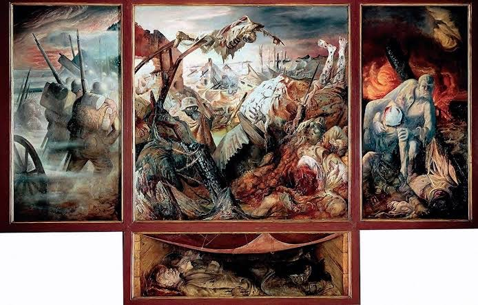 Otto Dix, La Guerra, 1932, Galerie Neue Meister, Dresde.
